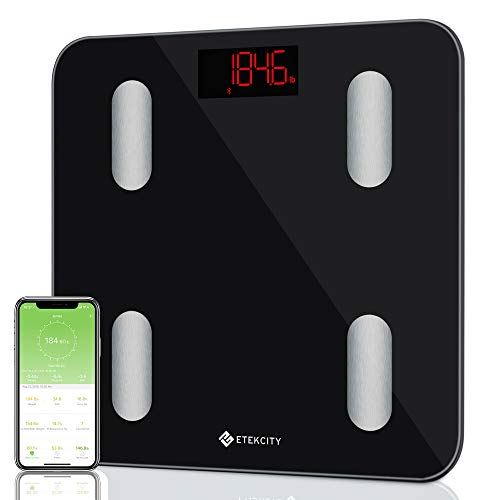 Etekcity Smart Bluetooth Body Fat Scale-FDA Approved- Digital Wireless Weight Bathroom Scale, Body Composition Analyzer with app for Weight, BMI, Body Fat%, Water, Muscle Mass, Bone Mass, etc. 400 lbs by Etekcity