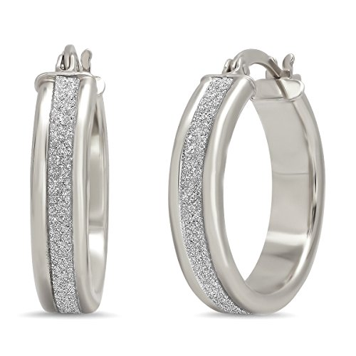 Sterling Silver Laser-cut Hoop earrings by Pori Jewelers