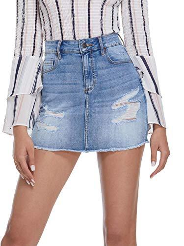 GUESS Factory Dreanna Denim Mini Skirt
