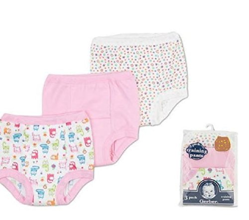 Gerber Training Pants 2T Girl 3 pack 28-32 pounds