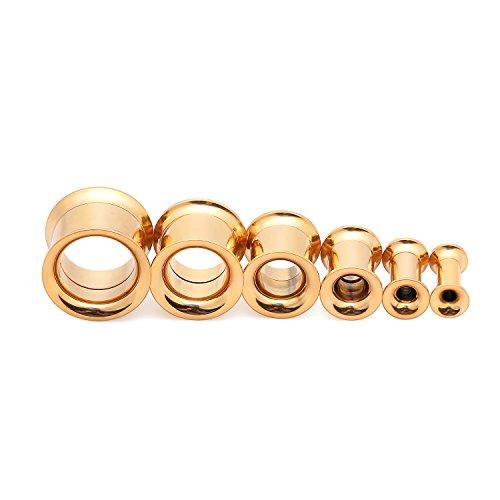 8mm gold plugs - 8