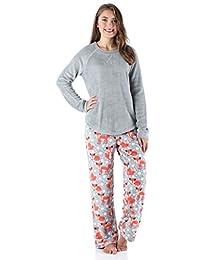 PajamaMania Women's Sleepwear Fleece Long Sleeve Pajama PJ Set