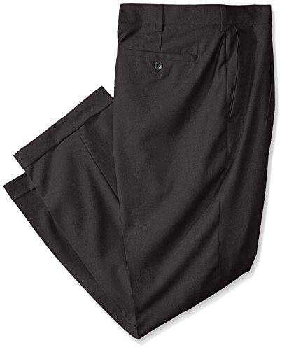 Louis Raphael ROSSO Mens Big-Tall Super 150 Twill Pleated Dress Pant with Comfort Waist
