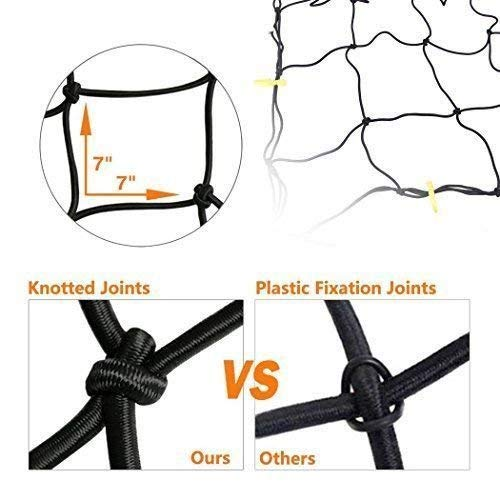 Trunknets Inc Cargo Net Bed Tie Down Hooks for Chevy Silverado Full Size Long Bed 66x98 New
