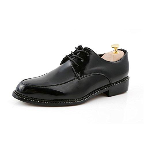 La tendencia señalada con cordones zapatos/Zapatos de marea baja/Zapatos de los hombres de negocios de ocio de verano Negro