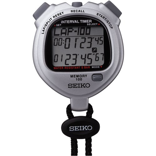 Seiko Timers 100 Lap Memory Stopwatch for Interval Training by Seiko
