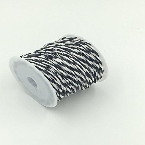KOZEEYギフト 贈り物 飾り ラッピング ロープ リボンひも 紙製 10M ブラック ホワイト