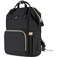 Diaper Bag Multi-Function Waterproof Travel Backpack Nappy Bags for Baby Care Large Capacity Stylish and Durable (Black)