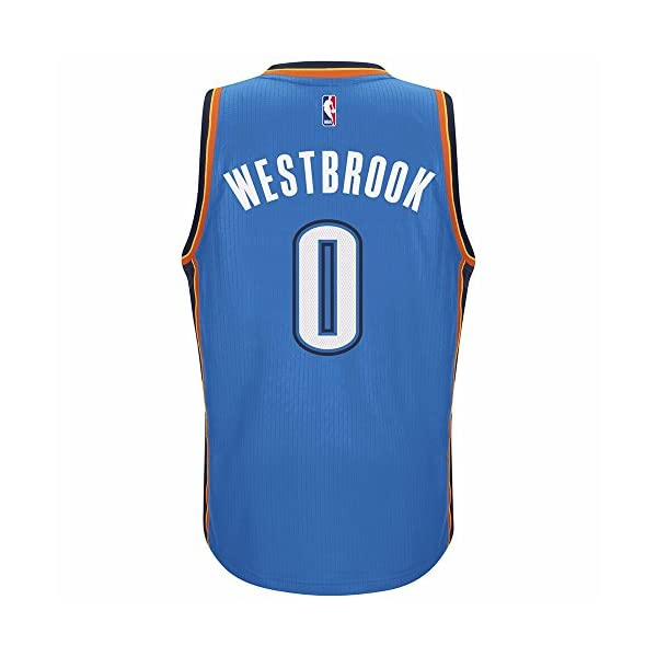 new products 26af6 7bbcc adidas Men's Oklahoma City Thunder NBA Russell Westbrook Swingman Jersey  Blue