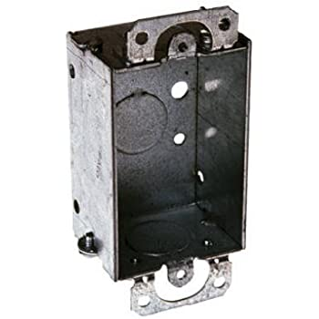 "Raco Switch Box 10.0 Cu In 3 /""X2 /""X2 /"" 4 Side Knockouts 1//2 /"" Steel Bulk"
