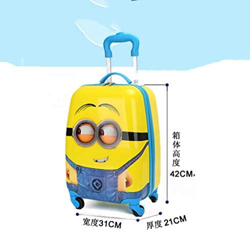 BXDYA 子供たちは荷物キッズローリングスーツケース持込みトラベルケーストロリースーツケースユニバーサルホイール荷物預かりミニ搭乗ケースキャリーオン