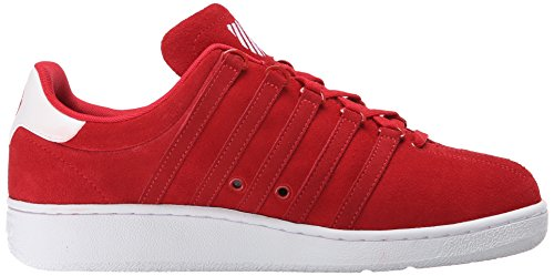 K-swiss Mens Classic Vn Sde Fashion Sneaker Rosso / Bianco