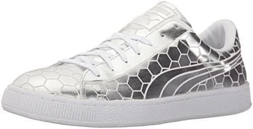 PUMA Men's Basket Classic Metallic Fashion Sneaker