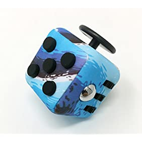 CPEI Anxiety Attention Toy Spinner Fidget Cube for Children and Adults ,Ocean Blue