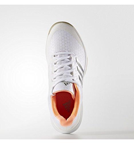 Footwear Femme White 2 Terre Chaussures Adidas Clay Blanc 0 Ubersonic glow Pe silver Metal Battue 2017 Orange Adizero 75Oq5