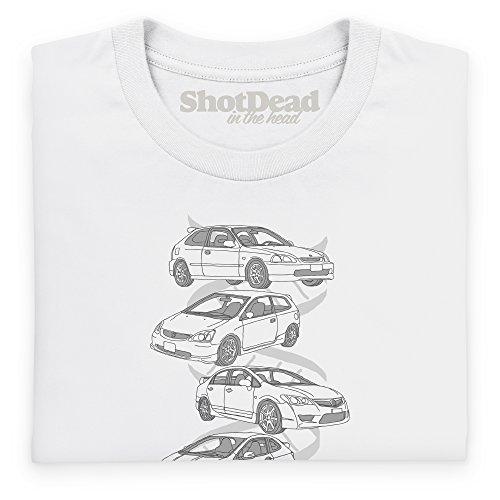 Nut & Bolt - Japanese Hot Hatch Generations Camiseta, Para mujer Blanco