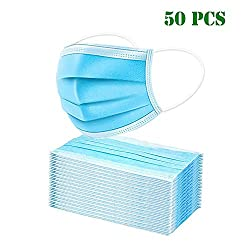 50Pcs Face Mask Protective Cotton Mouth Face Masks Anti Dust Mask Windproof Three Layer Mask Independent Packaging (50 PCS)