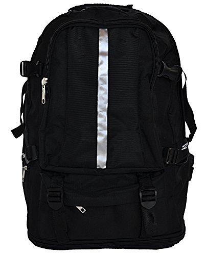Falcon Backpack Perfect Daypack or Bookbag for Hiking College Travel or Day Trips Water Resistant Black Back Pack for Men or Women ()