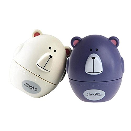 Assume Overawe - Fashion Design Bear Cow Timer Mechanical Wind Minute Kitchen Gadget Alarm - Birth Carry - 1PCs