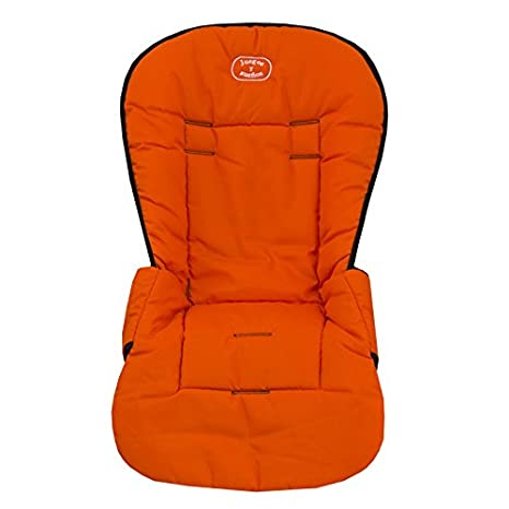 Colchoneta NARANJA para silla de paseo. Protege el tapizado del carrito. Funda silla paseo