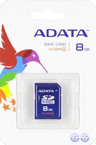 ADATA 8GB SDHC Class 4 Memory Card (ASDH8GCL4-R)