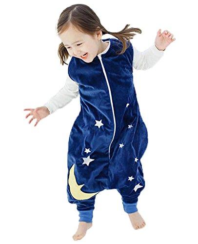 Happy Cherry - Infantil Saco de Dormir Mono del Algodón Franela Cremallera Pijama de Bebé Cartoon para Niños Niñas - Amarillo - S(1-3 años)