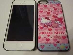 Hello Kitty Checkered Cute- iPhone 5 Premium Full Back Plastic Protective Case