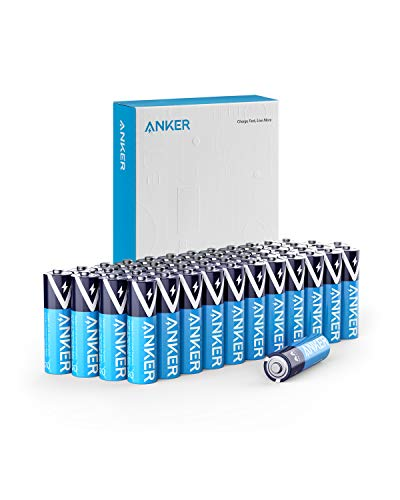 Anker Alkaline AA Batteries, Long-Lasting & Leak-Proof with PowerLock Technology, High Capacity Double A Batteries with Adaptive Power and Superior Safety (48-Pack)