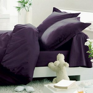 Hotel Luxury Bed Sheets Set- 1800 Series Platinum Collection-Deep Pocket, Wrinkle & Fade Resistant(Queen,Eggplant)