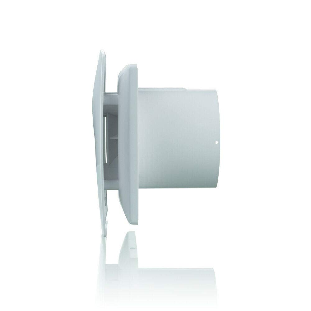 color blanco 100 mm Blauberg UK MOON 100 ST Temporizador de ducha silencioso para ba/ño y extractor de cable Blauberg