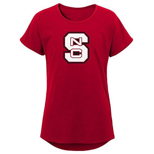 (Gen 2 Little NCAA Youth Girls Primary Logo Dolman Tee, Dark Red, Medium (10-12))