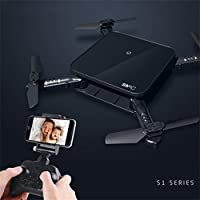 RC Helicopters,Jinjin 7CM Mini Drone SMRC S1 0.3MP Wifi Aititude Hold RC Toy Helicopter Foldable Selfie Drone RC Quadcopters (Black)