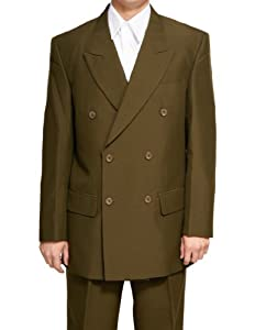 B001OGNFTW New Double Breasted (DB) Olive Men's Business Dress Suit