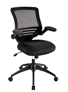 Realspace Calusa Mesh Mid-Back Chair, Black