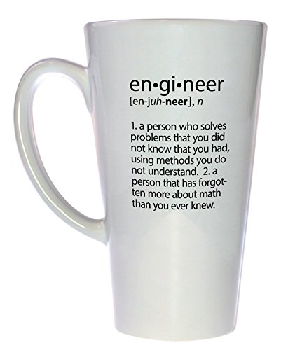 Engineer Definition Funny Latte Coffee product image