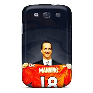 Durable Defender Case For Galaxy S3 Tpu Cover(denver Broncos)