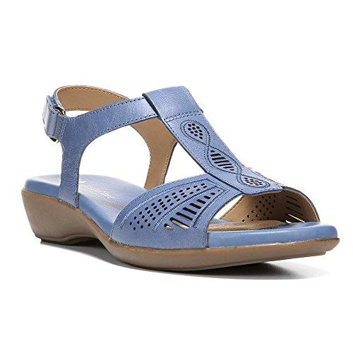 Naturalizer Red de Mujeres T-Strap sandalias Azul Océano