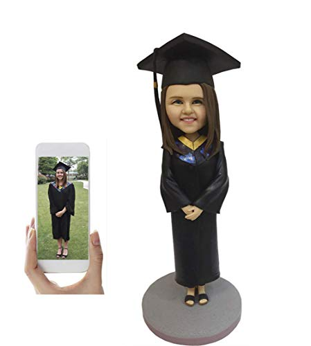 (Custom Bobblehead Graduation Figurine Personalized Gifts Based on Your Photos, One Person, DHL Expedited Shipping Service )