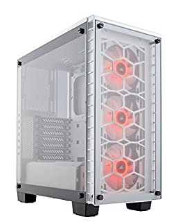 CORSAIR Crystal 460X RGB Compact Mid-Tower Case, 3 RGB Fans, Tempered Glass - White (B077GJRJ19) | Amazon price tracker / tracking, Amazon price history charts, Amazon price watches, Amazon price drop alerts