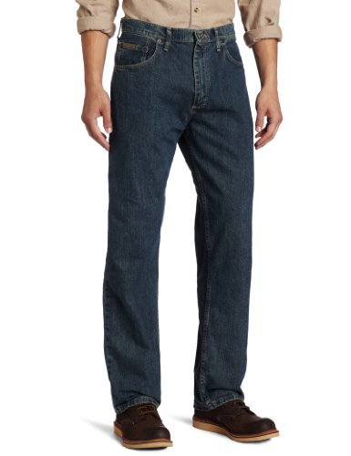 Genuine Wrangler Men's Loose Fit Jean,Greyed Indigo,38W  x - Jeans Genuine