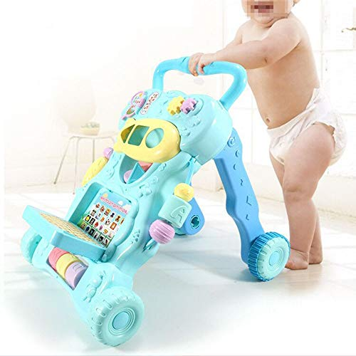 Ybriefbag-Toys Baby Three-in-one Activity Walker Infant and Child Anti-Rollover Walker 6-18 Months Baby Multi-Function Walker Trolley Toy (Color : Blue, Size : 42.34533.5CM) by Ybriefbag-Toys (Image #3)