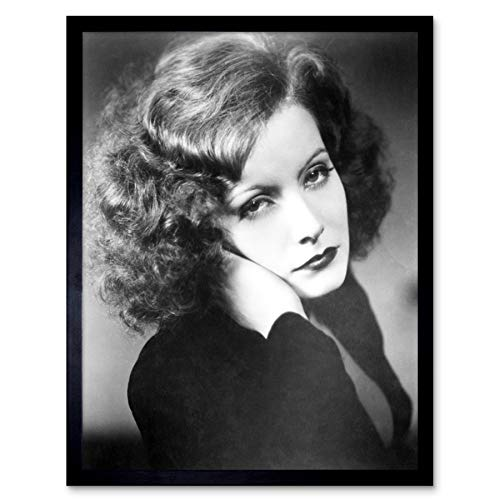 Portrait Movie Actress Greta Garbo 1930 Promo Photo Art Print Framed Poster Wall Decor 12x16 - Photo Art Promo