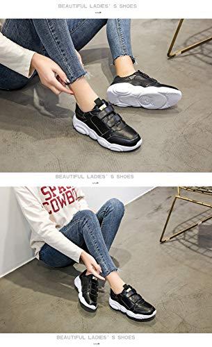 5size Zapatos Oso 5 Zhijinli Amor Velcro De 6 Pequeños 7 Casuales Transpirables Deportivos Blancos Tamaño ZHxdd6qw