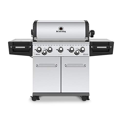 Broil King 958344 Regal S590 Pro Gas Grill, 5-Burner, Stainless Steel (Patio Steel Covers)
