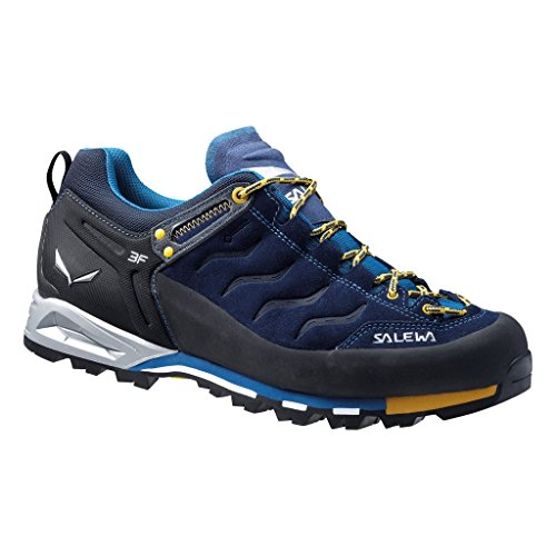 SALEWA MS MTN TRAINER GTX - botas de senderismo de material sintético hombre Azul (Navy / Nugget Gold)