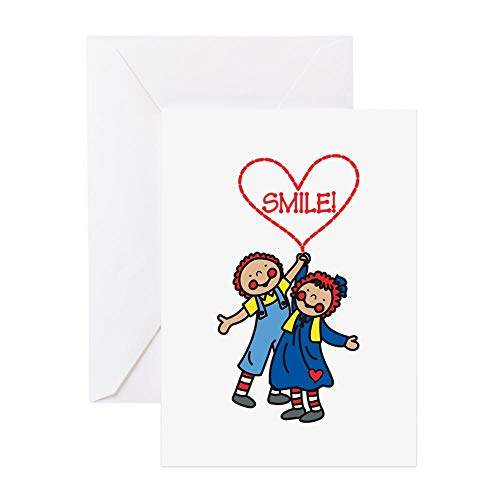 CafePress Smile Greeting Cards Greeting Card, Note Card, Birthday Card, Blank Inside Glossy