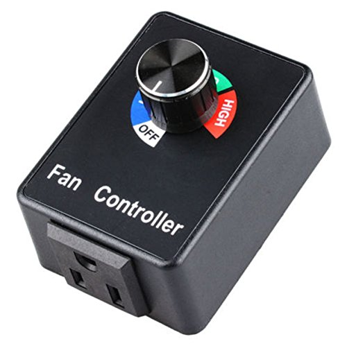 Controller Speed fan Motor Variable Active Air Duct Booster Hydroponics Inline (Esc Media)