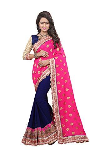 Da Facioun Indian Saree For Women Wedding Designer Partywear Traditional Rani/Nevi Sari by Da Facioun