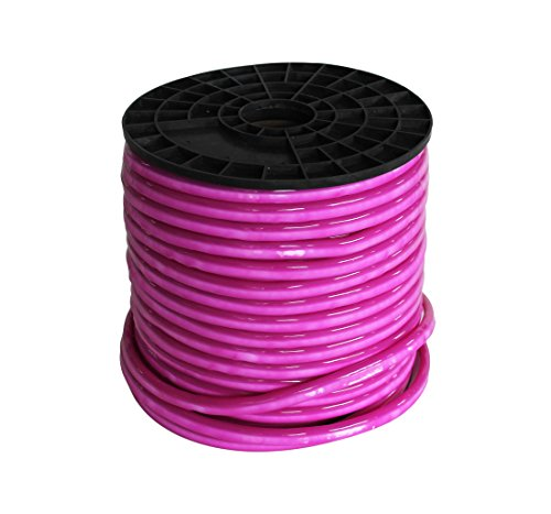 Vasten LED Neon Rope Light 30 Ft Pink Jacket Pink Light 12V LED Neon Lights Waterproof Resistant, Accessories Included - [Ideal for Christmas Lighting, Indoor Outdoor Rope Lighting] (Pink) ()