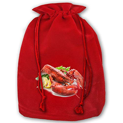Lobster Potato Chips Bags Drawstring Santa Sack Decorations - Oversize Potato